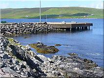HU4545 : Pier by Doos' Cove by Colin Smith