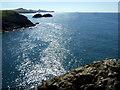 SM8032 : The coastline southwest from Pen Clegyr by ceridwen