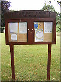 TM4261 : St.Lawrence Church Notice Board, Knodishall by Adrian Cable