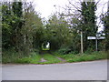 TM4261 : Bridleway & Roadsign in School Road by Adrian Cable