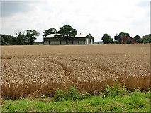 TG1301 : Sheds at Brick Kiln Farm by Evelyn Simak