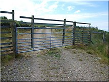 NR7037 : Gate on forest access road by Patrick Mackie
