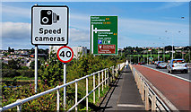 D4002 : Road signs, Larne by Albert Bridge