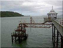 SH5873 : The end of Bangor Pier by Steve  Fareham