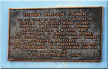 J2664 : Memorial plaque, Lisburn by Albert Bridge
