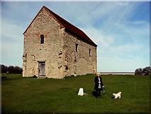TM0308 : St Peter's Chapel, Bradwell juxta Mare, Essex by Peter Stack
