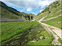 SD9163 : The Stream in Gordale Scar by Andy Beecroft
