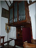 TM4261 : St Laurence, Knodishall: organ by Basher Eyre