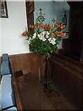 TM4160 : St Mary Magdalene, Friston: floral display by Basher Eyre