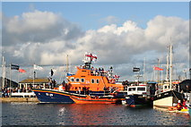 SW8132 : Falmouth lifeboat on Customs House Quay by Rod Allday