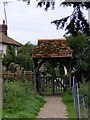 TM4267 : Lych Gate, Holy Trinity Church, Middleton by Adrian Cable
