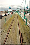 SD3036 : Blackpool: Tram Lines on the North Pier by Eugene Birchall