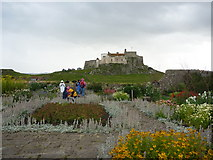 NU1341 : Here Comes The Rain at Lindisfarne Castle Gardens, Holy Island, Northumberland by Richard West