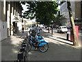 TQ3180 : Barclays Bike Hire Docking Station on Stamford Street by David Anstiss