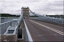 SH5571 : Menai Suspension Bridge / Pont y Borth by Ian Taylor