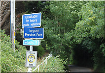 ST6062 : 2010 : Warning sign at Upper Stanton Drew by Maurice Pullin
