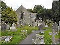 SW8235 : St Mylor Church by David Dixon