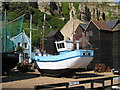 TQ8209 : Fishing Boats off Rock-A-Nore Road by Oast House Archive