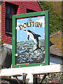 TQ8209 : The Dolphin sign by Oast House Archive