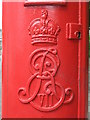 NZ2468 : Edward VII postbox, Harley Terrace / Church Avenue, Gosforth, NE3 - royal cipher by Mike Quinn