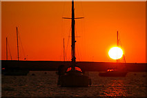 SY6774 : Sunset at Portland Marina, Dorset by Christine Matthews