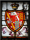 TL8683 : St Peter's church in Thetford - stained glass by Evelyn Simak