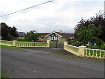 R6546 : Gate and pillared fence to house, Ballybricken by David Hawgood
