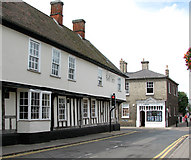 TL8683 : The Bell Hotel in King Street, Thetford by Evelyn Simak