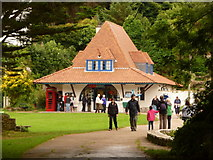 SS1496 : Caldey Island: the post office by Chris Downer