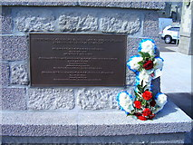 NJ9967 : Fraserburgh Lifeboat Memorial Plaque by JBPM67