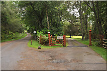 NH5292 : Entrance to Gruinards Lodge by Steven Brown