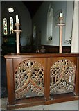 TM3669 : St Peter, Sibton- intricate panelling by Basher Eyre