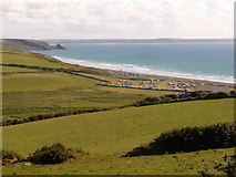 SM8422 : Newgale: view over Newgale Sands by Chris Downer