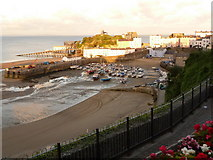 SN1300 : Tenby: the harbour on a sunny evening by Chris Downer