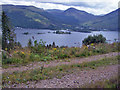 NN0860 : Forestry track above Loch Leven by Richard Dorrell