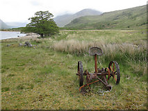 NN0838 : Grass area by Loch Etive by Hugh Venables