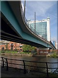 SJ8196 : Metro bridge over Manchester Ship Canal by Derek Harper