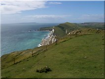 SY8580 : Arish Mell towards Lulworth by Margaret Sutton