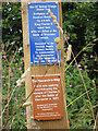 SJ8107 : Monarch's Way marker & description by Row17