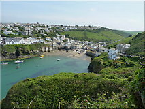 SW9980 : Port Isaac from the path to Lobber Point by Richard Law