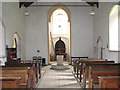 TF8730 : St Peter's church in Dunton - view west by Evelyn Simak