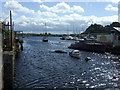 NS3975 : River Leven at Dumbarton by Thomas Nugent