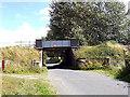 SO4487 : Bridge on the Shrewsbury to Hereford railway line by Row17