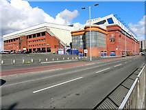 NS5564 : Ibrox Stadium, Edmiston Drive by David Dixon