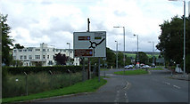 NS3881 : Roundabout at Old Luss Road by Thomas Nugent