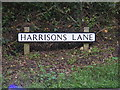 TM3978 : Harrisons Lane sign by Adrian Cable