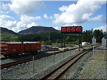 SH5752 : Water tower at Rhyd Ddu station by Richard Hoare