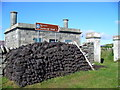 HU4009 : Peat Stack at Grutness by Colin Smith