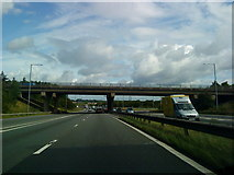 SE5209 : The junction of the A1(M) and the A1 by Andrew Abbott