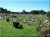 ST3970 : St Andrew's Church and churchyard, Clevedon by David P Howard
